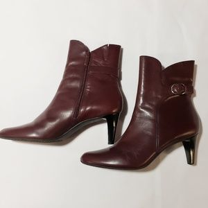 Talbots Leather Cranberry Midi Boot